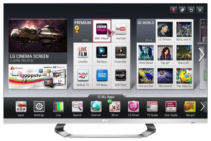 Главный экран Smart-TV