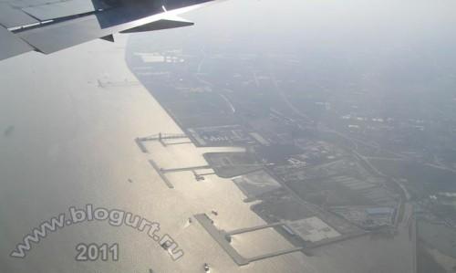 Смог над пригородами Шанхая