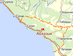 Поехать в Абхазию на машине